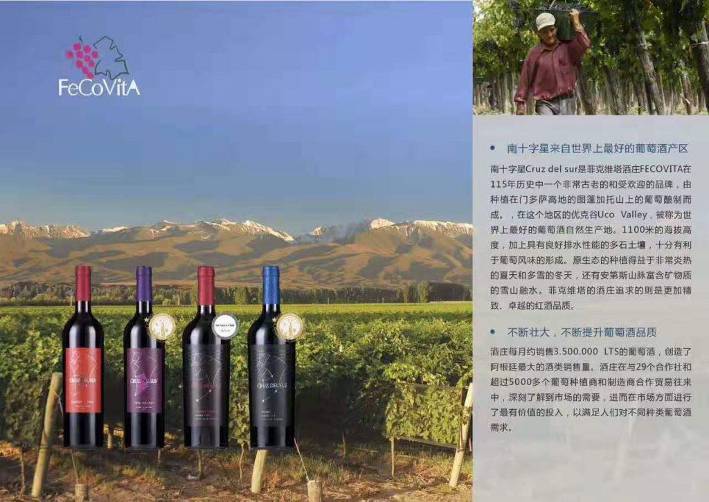 阿根廷菲克维塔酒庄南十字星系列红酒
